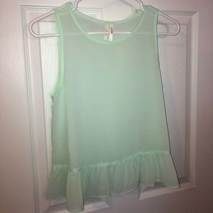 Nordstrom's mint blouse size XS